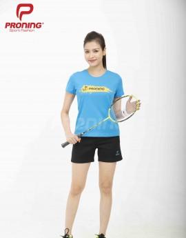 Áo thể thao nữ AC-3601-02-06 Xanh copan phối vàng