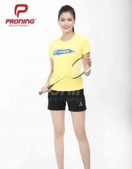 Áo thể thao nữ AC-3601-06-04 Vàng phối xanh bích