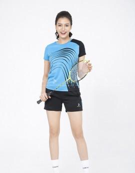 Áo thể thao nữ AC 3602-08-02 Đen phối xanh copan