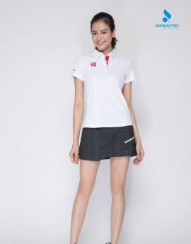 Áo thể thao nữ AC-3606 trắng phối đỏ