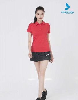 Áo Golf nữ AC-3612 Đỏ phối đen