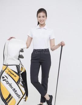 Áo thể thao Golf nữ AC-3618 Trắng phối đỏ