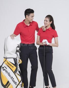 Áo thể thao Golf nữ AC-3618- Đỏ phối đen