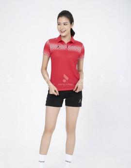 Áo thể thao nữ AC-3622-07-01 Đỏ phối trắng