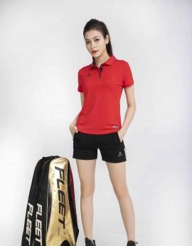 Áo thể thao nữ AC-3630 đỏ phối đen