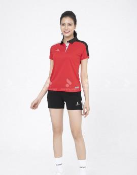 Áo thể thao nữ AC-3634-07-08 Đỏ phối đen
