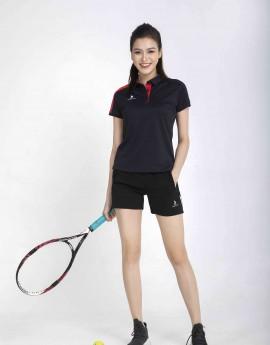 Áo thể thao nữ AC-3638 đen phối đỏ