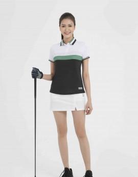 Áo thể thao Golf nữ AC-3648-01-08 Trắng phối đen