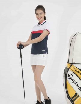 Áo thể thao Golf nữ AC-3648-01-12 Trắng phối navy