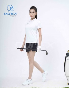 Áo thể thao Golf nữ AC-3660-01-08 Trắng phối đen