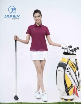 Áo thể thao Golf nữ AC-3660-14-03 Đỏ đô phối xanh lá