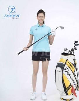 Áo thể thao Golf nữ AC-3660-19-12 Xanh biển phối navi