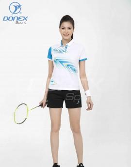 Áo thể thao nữ AC-3662-01-02 Trắng phối xanh copan
