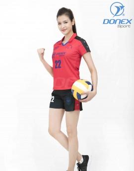 Bộ thể thao nữ ACB-5150-07-04 Đỏ phối xanh bích