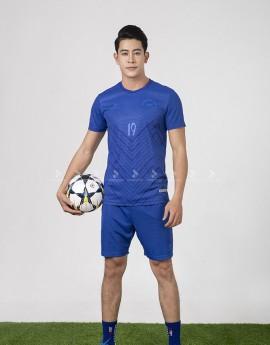 Bộ bóng đá nam MCB-6140-04-04 Xanh bích phối xanh bích