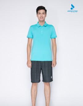 Áo golf nam MC-9004 xanh ngọc phối đen
