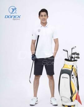 Áo thể thao Golf nam MC-9060-01-08 Trắng phối đen