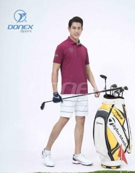 Áo thể thao Golf nam MC-9060-14-03 Đỏ đô phối xanh lá