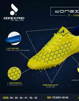 Giày đá bóng FC2001-02-06 màu vàng