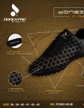 Giày đá bóng FC2001-02-08 màu đen