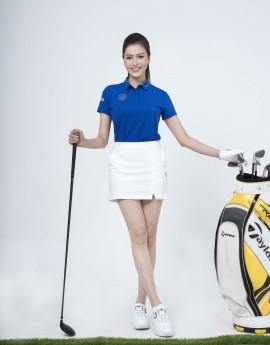 Váy thể thao Golf nữ ASC-896-01-08 Trắng phối đen