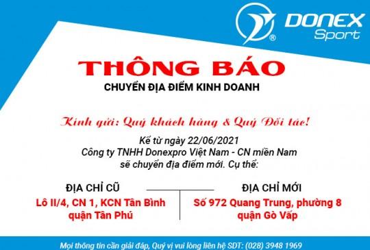 Thông báo chuyển địa điểm văn phòng Hồ Chí Minh